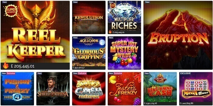 Exclusive Slots & Table Games