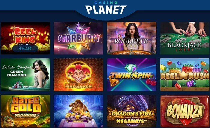 Casino Planet Games Offer