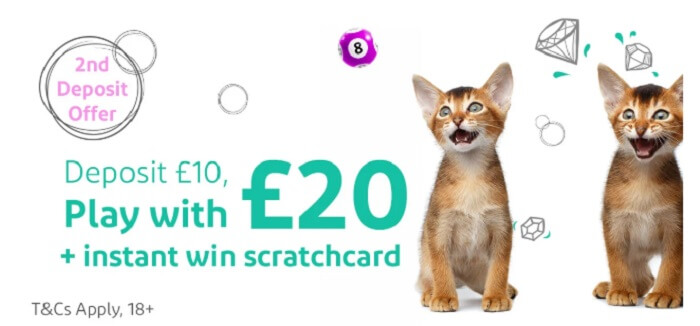 Kitty Bingo Second Deposit Bonus