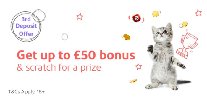 Kitty Bingo Third Deposit Bonus