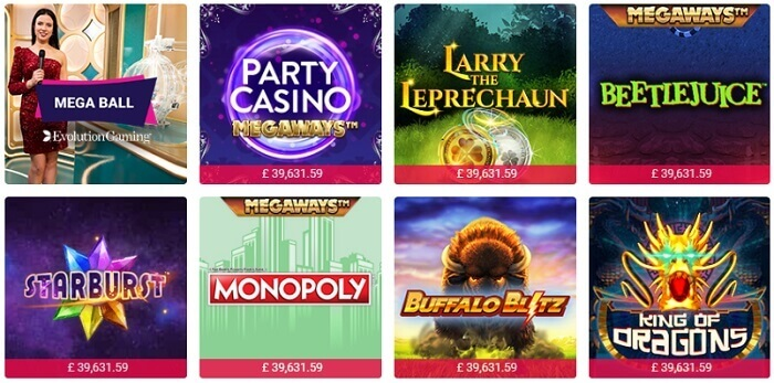 Party Casino Games Offer
