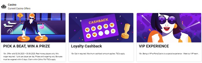 Party Casino Promo Offers