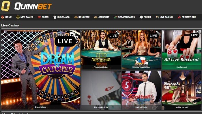QuinnBet Casino Games